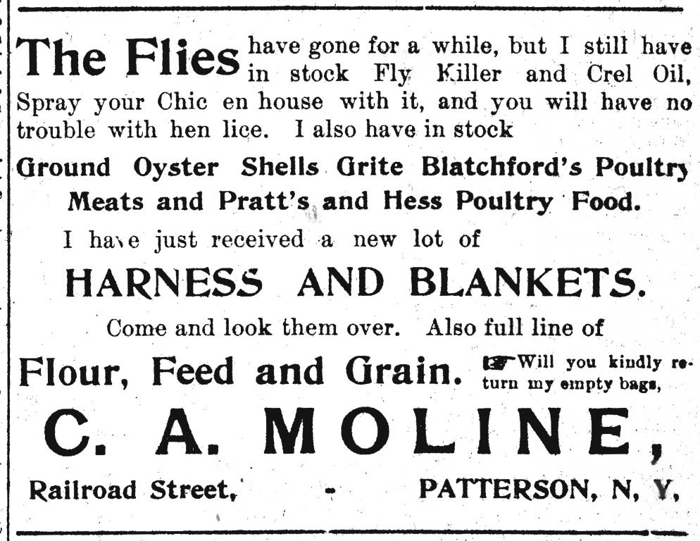 5. Ad from Patterson Weekly News 1904-04-21